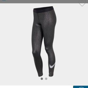 New Nike Pro Cool Sparkle Training Tights/Metallic